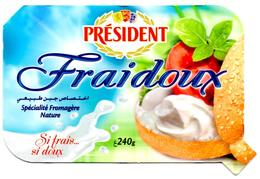 """Packaging FROMAGE LABEL CHEESE """" Président """" Fraidoux Nature 240 Grs KÄSE Queso Formaggio Kaas Emballage - Cheese"""