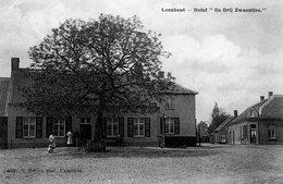 """Loenhout - Hotel """"De Drij Zwaantjes"""" / 1910 (prachtkaart Met Animatie) - Wuustwezel"""