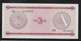 Cuba - 3 Pesos - Pick N° FX2 - NEUF - Cuba