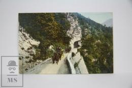 Antique Postcard Switzerland - Chur Aroser Post - Horse Post Carriage - GR Grisons