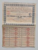ACTION TITRE EAUX ET SERVICES MUNICIPAUX 1899 - Actions & Titres