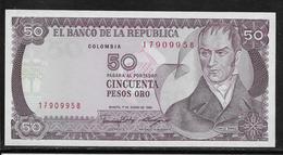 Colombie - 50 Pesos - Pick N°425b - NEUF - Colombie