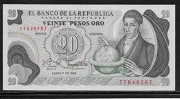 Colombie - 20 Pesos - Pick N°409d - NEUF - Colombie