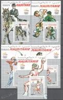 Mauritanie - Mauritania 1990 Yvert 636-40, Barcelona As Headquarters Of The Olympic Games 1992 - Miniature Sheets - MNH - Mauritania (1960-...)