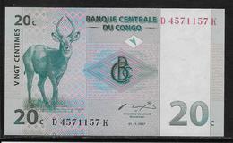 Congo - 20 Centimes - Pick N°83 - NEUF - Democratic Republic Of The Congo & Zaire