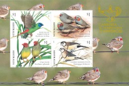 Australia 2018 Canberra Stampshow Finches Minisheet MNH - Nuovi