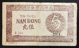 1949-1950 Vietnam 5 Dong Pick 46 LOTTO 1748 - Vietnam