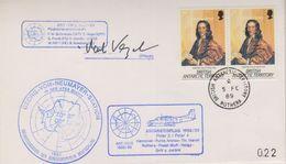 British Antarctic Territory 1989 Antarktisflug, Ca Rothera 5 Fe 89 Signature  (38439) - Brits Antarctisch Territorium  (BAT)