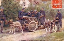 C 12793 - En Guerre - Attelage De Chiens - Mitrailleuses Belges - B.E. - France