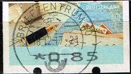 Bund 2017 ATM, Michel# 8 O Portostufe 0,85 Euro - Distributori