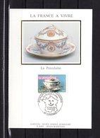 """"""" LA PORCELAINE """" Sur Carte Maximum En Soie De 2003. N° YT 3568. Parfait état CM - 2000-09"""