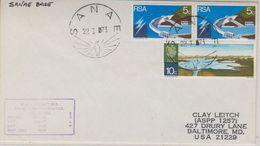 Sanae Base 1973 Cover To The USA Ca 22 I 73 (38440) - Postzegels