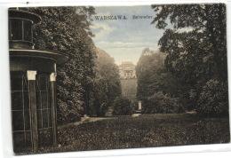 1 Postcard Warsaw Warszawa Belweder - Pologne