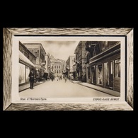 GREECE 1920s USED POSTCARD RUE D' HERMES SYRA - Entiers Postaux