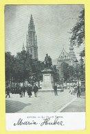 * Antwerpen - Anvers - Antwerp * La Place Verte, Groenplaats, Statue, Animée, Cathédrale, Rare, Old CPA - Antwerpen