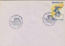 Uruguay 1992 Antarctica / Base Artigas / Christmas Cover  (38443) - Postzegels