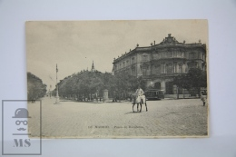 Antique Postcard Madrid - Paseo Recoletos - Edited Lacoste - Horse & Tram - Madrid
