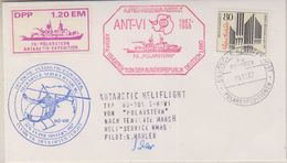Germany 1987 Heliflight From Polarstern To Base Teniente Marsh 09.12.1987 Si Pilot  (38444) - Postzegels