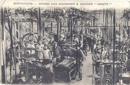 """CPA - Montluçon - Usine Des Machines à Coudre """"Hurtu"""" - Montlucon"""