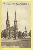 * Antwerpen - Anvers - Antwerp * (Nels, Série 25, Nr 82) église Saint Joseph, Statue Baron Loos, Kerk, Oldtimer - Antwerpen