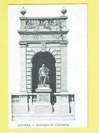 * Antwerpen - Anvers - Antwerp * (VED) Monument H. Conscience, Statue, Mémorial, Gedenksteen, Rare, Old - Antwerpen