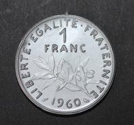 Monnaie De 1 Franc Jeton Plastique école En Francs Début Années 60 - Fabricant ASCO à Juziers (78) - Coins School Token - Professionals / Firms