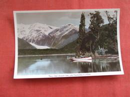 Franz Josef Glacier  From Lake Mapourika  New Zealand ---------Postcard Size  Blank Back Photo-------  Ref 2916 - New Zealand
