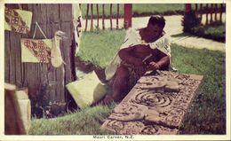 New Zealand, Native Maori Carver At Work (1920s) Postcard - New Zealand