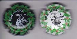 LOTE DE 2 PLACAS DE CAVA ACP DE BAGA DE NAVIDAD (CAPSULE) CHRISTMAS - Sparkling Wine