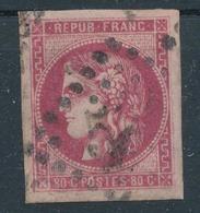 N°49 BORDEAUX ROSE FONCE VOIR DESCRIPTIF. - 1870 Emission De Bordeaux