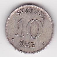 10 Öre Münze Aus Schweden (vorzüglich) 1938 Silber - Schweden