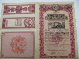 1 Action - Osterreichische Staats Rente Obligation - WIEN, 1909 - Banque & Assurance