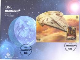 Espagne - 2018 - Bloc Star Wars - Hans Solo - Procédé D'impression Lenticulaire - Enveloppe Premier Jour - 1931-Aujourd'hui: II. République - ....Juan Carlos I