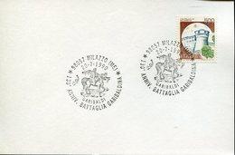 33116 Italia, Special Postmark 1990 Milazzo, 130th Anniversay Battaglia Garibaldi - Other