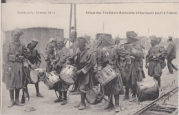 Bn - Cpa CASABLANCA, Guerre 1914 - Clique Des Tirailleurs Marocains Embarquant Pour La France - Casablanca