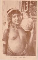 Bn - Cpa TUNISIE - Fillette Arabe (seins Nus) - Tunisia