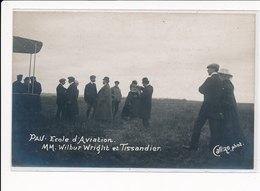 PAU : Ecole D'aviation Mm. Wilbur Wright Et Tissandier - Tres Bon Etat - Pau