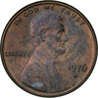 Monnaie, États-Unis, Lincoln Cent, Cent, 1976, U.S. Mint, Denver, TTB, Laiton - Federal Issues