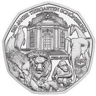 Oostenrijk 2002   5 Euro Zilver  Tiergarten Schönbrunn   .ag 800   10 Gram 28,5 Mm - Austria