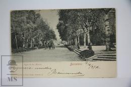 Antique Postcard Barcelona - Paseo De Los Alamos - Edited Römmler & Jonas - Year 1912 - Ciutadella Park Horse Carria - Barcelona