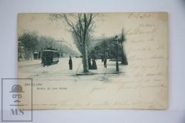 Antique Postcard Barcelona - Ronda San Pedro - Edited Hauser Y Menet - City Life Year 1901 - Tram - Barcelona