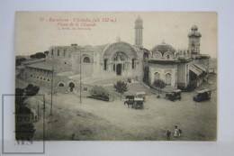 Antique Postcard Barcelona - Tibidabo Plaza - Edited L. Roisin - City Life Year 1919  - Horse Carriage - Barcelona
