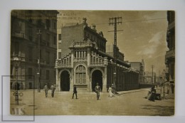 Antique  Photographic Postcard Barcelona - Train Station Calle Aragón - Edited B.L. - - Barcelona