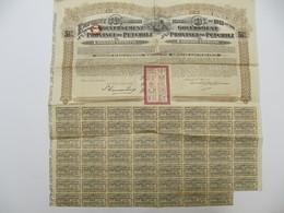1 X  Action - Gouvernement De La République Chinoise, Emprunt, Province De Petchili - Anvers, 1913 - Asie