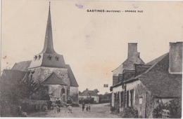Bn - Rare Cpa GASTINES (Mayenne) - Grande Rue - France