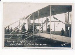 PAU : Ecole Aviation Mm. Wilbur Wright Et Tissandier - Tres Bon Etat - Pau
