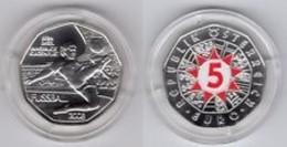 Oostenrijk 2008   5 Euro Zilver  Wenen-Salzburg-Genève-Zürich 'Duel) Ag 800   10 Gram    28,5 Mm - Austria