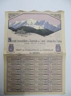 1  Action - Société Immobiliaire Et Thermale De Saint Gervais Les Bains - PARIS, 1926 - Tourisme