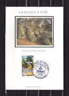 """"""" LA FORET DE FONTAINEBLEAU """" Sur Carte Maximum En Soie De 2007. N° YT 4016 Parfait état CM - Cartes-Maximum"""
