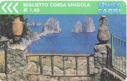 Ticket Bus : Ile De Capri, Italie : €1,40 : 09/09/2008 - Busse